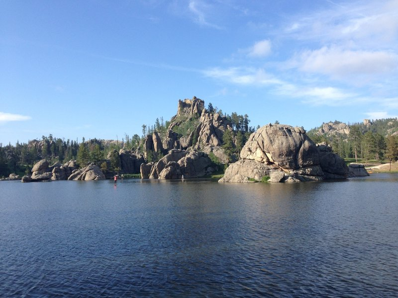 One of the most beautiful lakes I have ever seen. About a 45 minute drive from Mount Rushmore, Lake Sylvan.