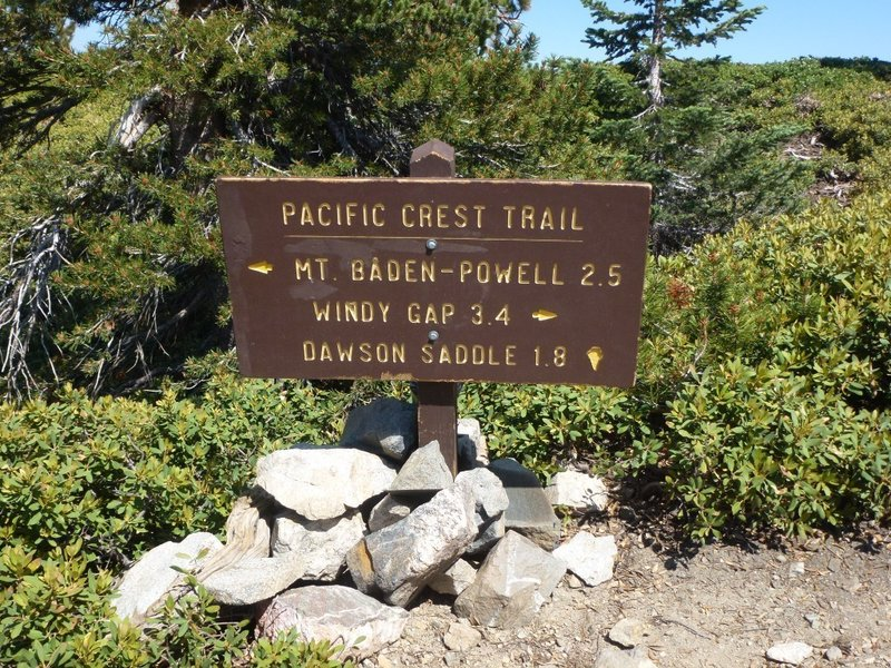 When you reach the PCT, you'll find this sign.