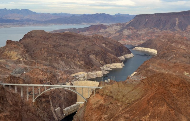 Hoover Dam from above.