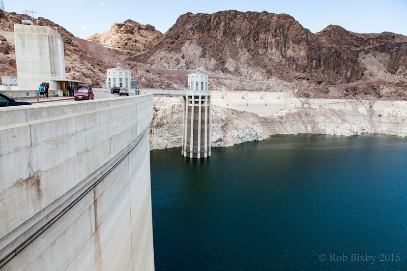 Right up against the Hoover Dam.