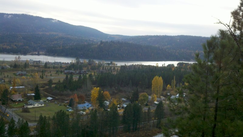 Overlooking Dover, Idaho, and the Pend Oreille River.