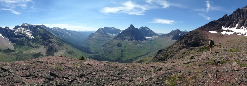Looking west off Two-Medicine Pass