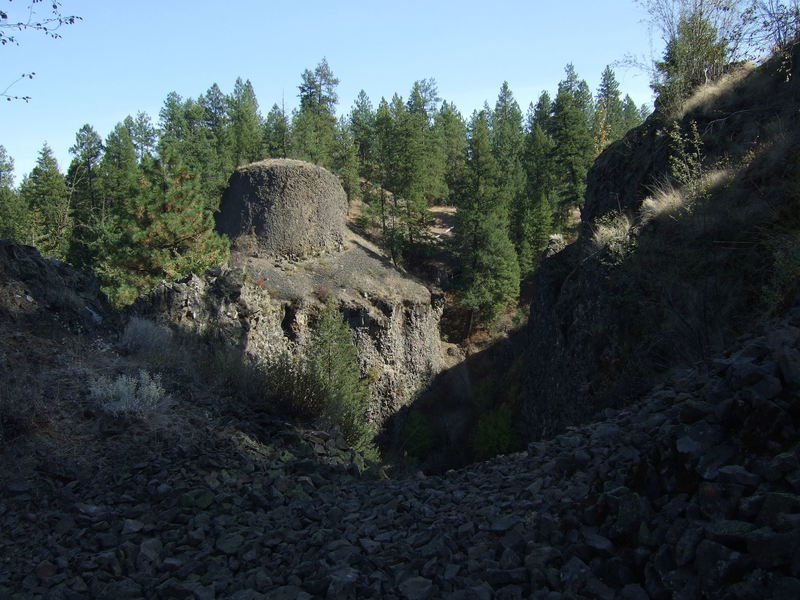 """The view across Deep Creek to the """"Top Hat"""" formation as seen from Trail 411."""
