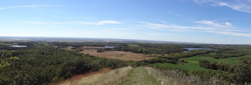 The spectacular view of the Turtle Mountain area.