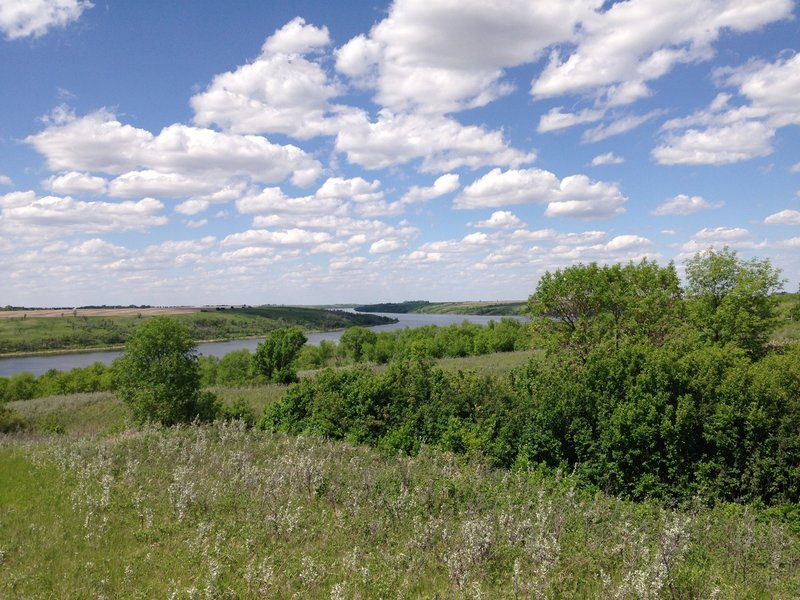 The Des Lacs River as seen from the Canada Goose Nature Trail.
