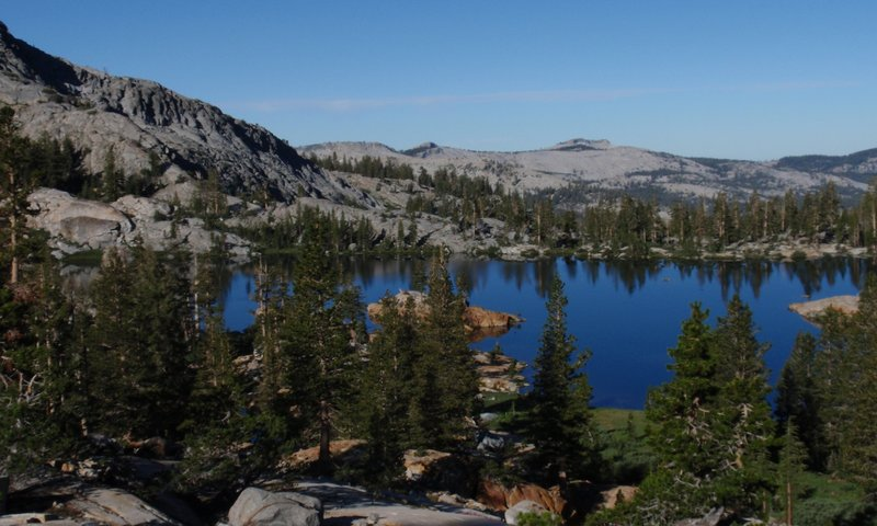Lower Ottoway Lake from the Red Peak Pass trail.