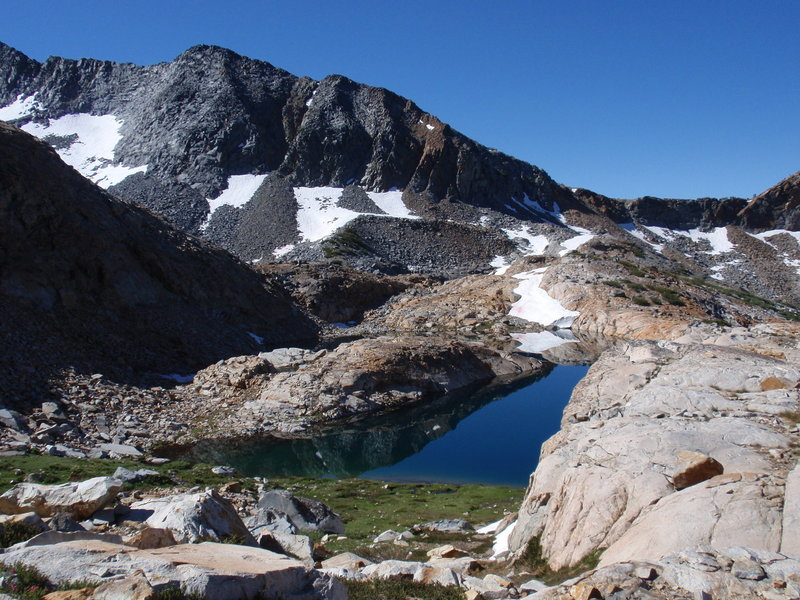 You'll have to cross Ottoway Tarn if you want to finish the Red Peak Pass Trail.