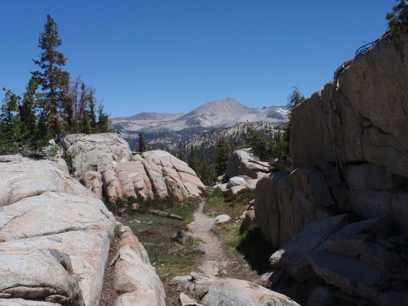 Red Peak Pass trail.