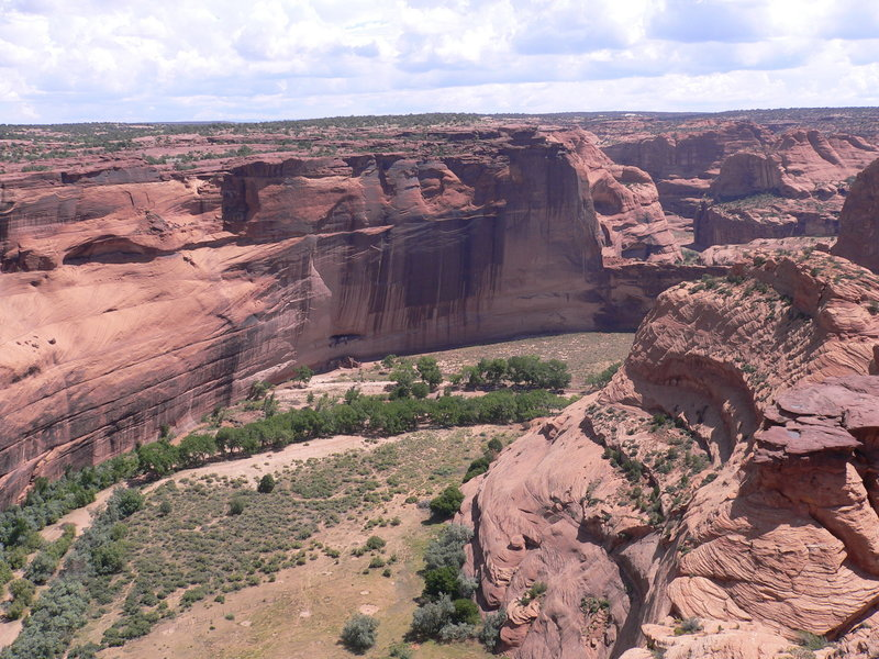 View of White House Ruin from the overlook.