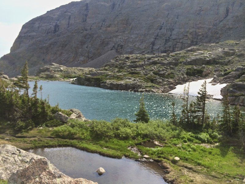 Lake of Glass as seen from the Loch Vale Trail.