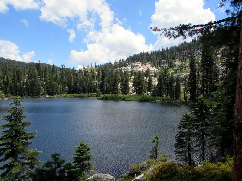 Looking south at Cody Lake from the Cody Meadows trail.