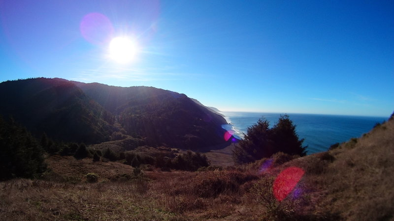 Overlooking Usal Beach at the start of the Lost Coast Trail.