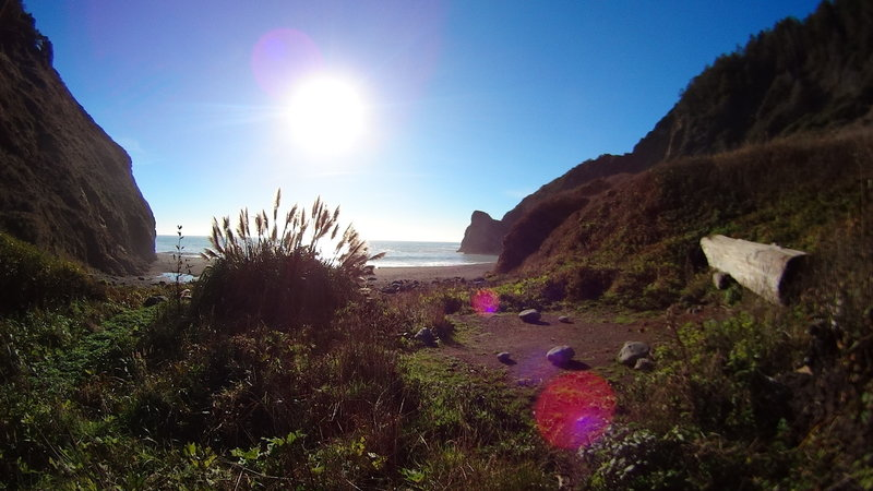 There are great camping spots at the end of the Lost Coast Trail!