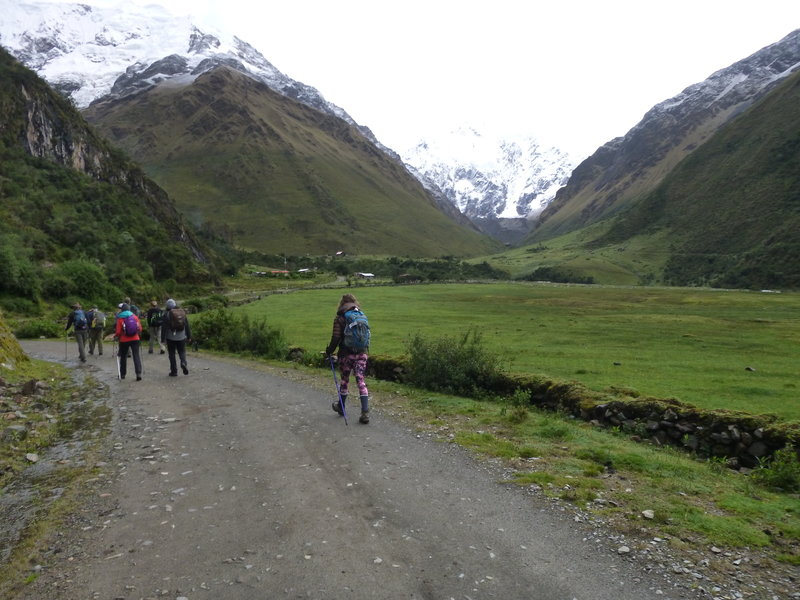 Leaving the lodge and heading toward the Salkantay pass.