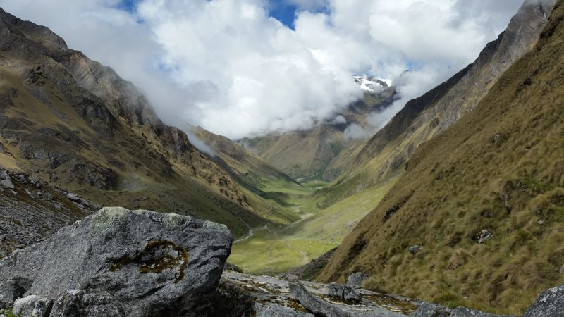 The landscape becomes more stark but no less beautiful along this section of the Salkantay Trail.