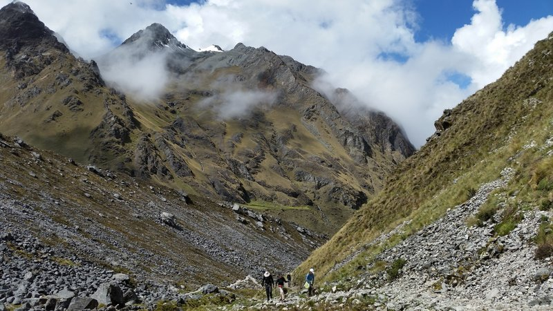 You'll really be hiking by this point in the Salkantay Trail!