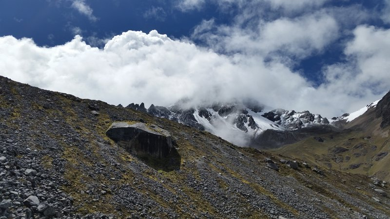 Don't forget to look up and around - the views from the Salkantay Trail are amazing in every direction.