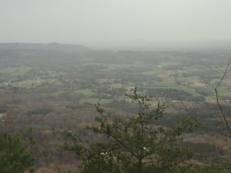 The view from the House Mountain East Overlook.
