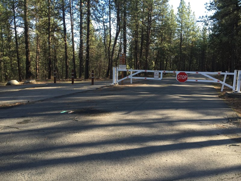 You'll have to pass through this gate at the trailhead for Trail 25. Head to the left to start your outing!