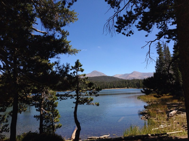 Views of Dog Lake from the trail.