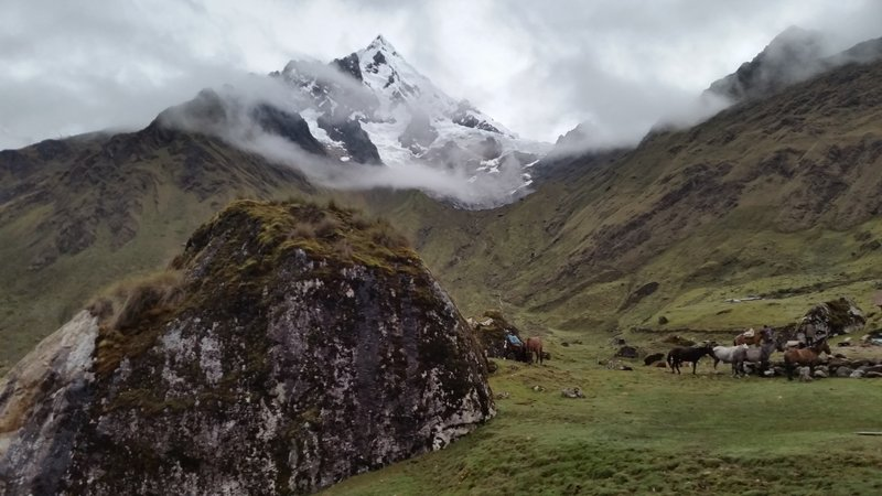 View from the Wayna Lodge on the Salkantay Trek.  Stark and beautiful.