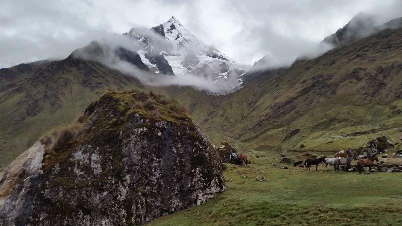 View from the Wayna Lodge on the Salkantay Trek.  Stark and beautiful.