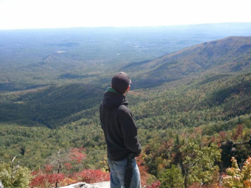 To the northeast of Table Rock Mountain lies the remainder of the Mountains to Sea Trail.