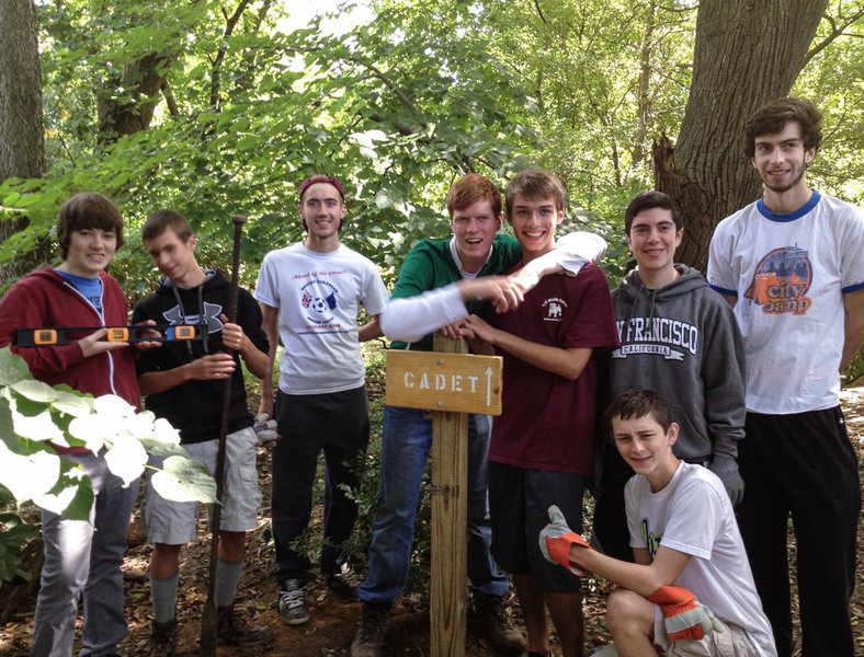 Eagle Scout project - trail signs.