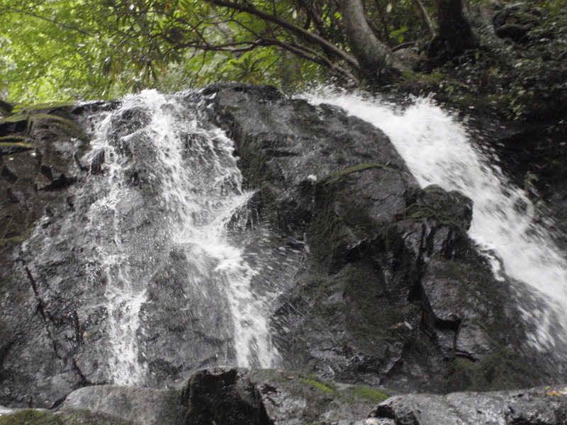 Laurel Falls as seen from it's namesake trail in Great Smoky Mountains National Park.