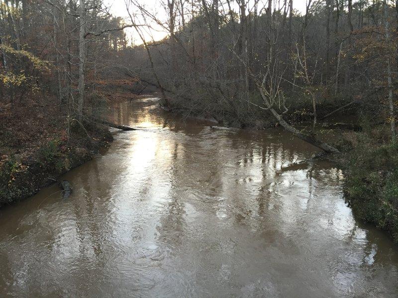 Crabtree Creek at Ebenezer Church Road Bridge