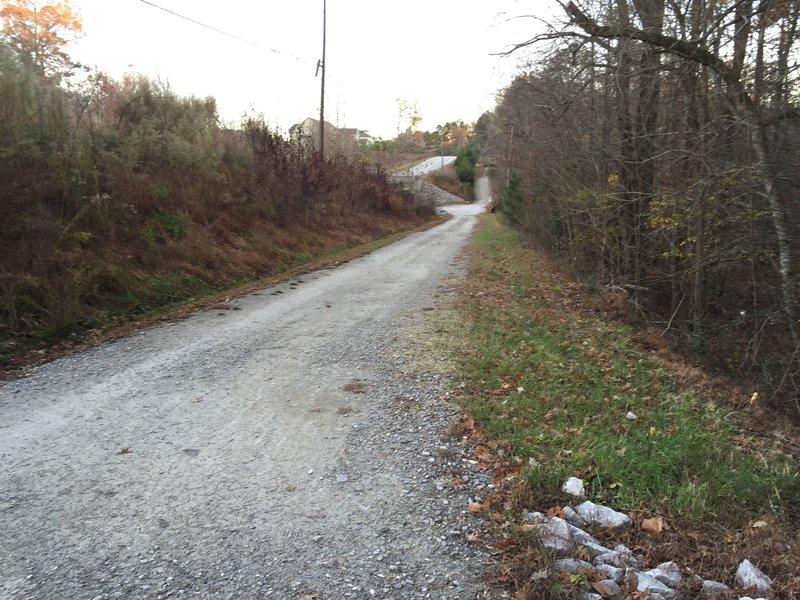 Final leg of South Turkey Creek trail after finishing Turkey Creek / Cedar Ridge loop run.