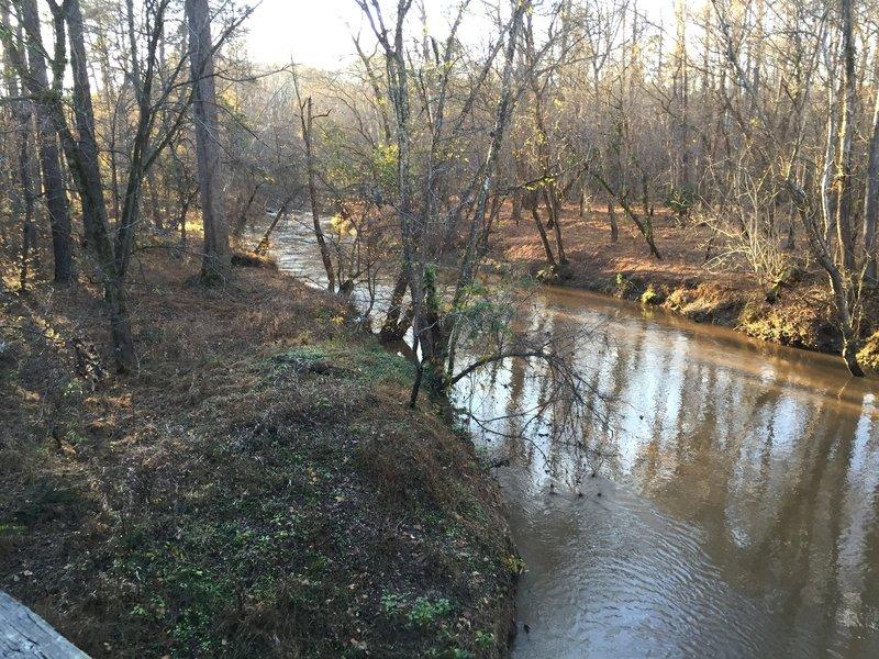Crabtree Creek just below Reedy Creek Lake in Umstead State Park.
