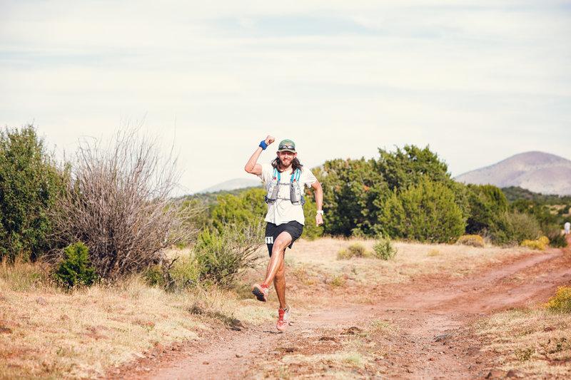 Running near Cedar Ranch on the Arizona Trail.  Photo by Kristin Wilson.