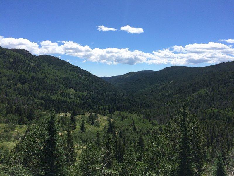 A nice view half way up to Lost Lake.