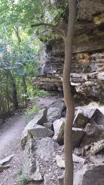 Some of the rock formations seen on the Violet Crown Trail.