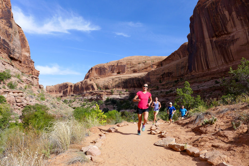 Great trail for a short run. Enjoy the arch at the end!