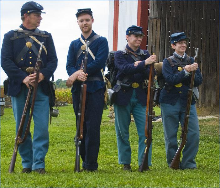 Civil War Re-Enactors -- The Thomas Farm Monocacy National Battlefield (MD) September 2014