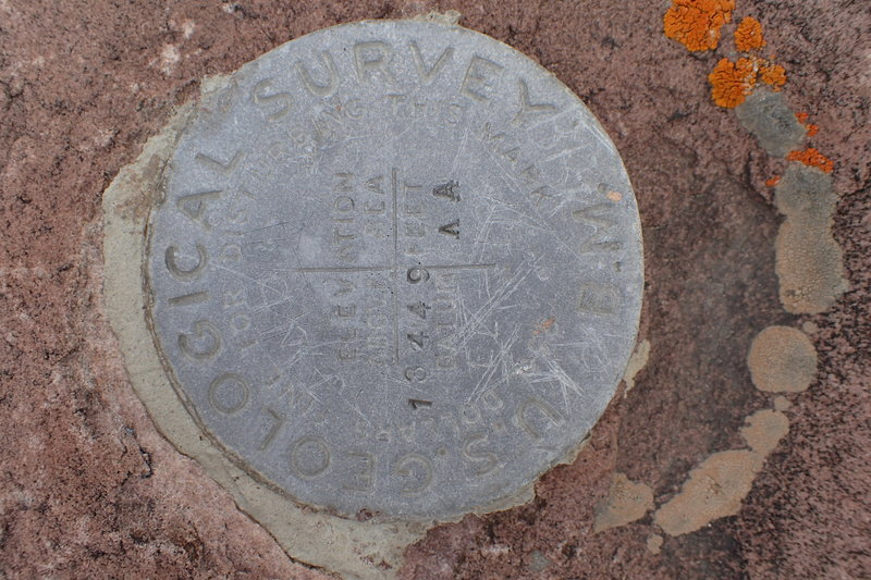 USGS Marker on Gilbert Peak.