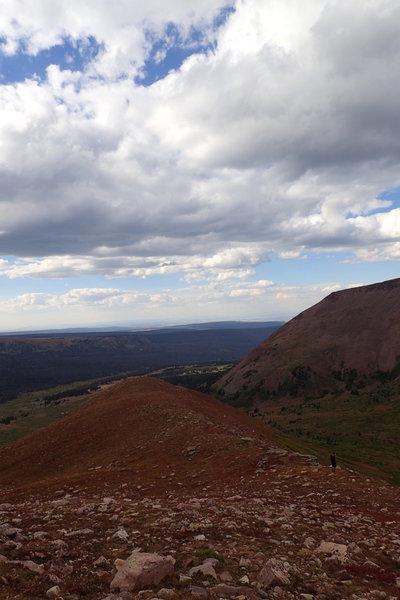Looking down the West Spur of Gilbert Peak.