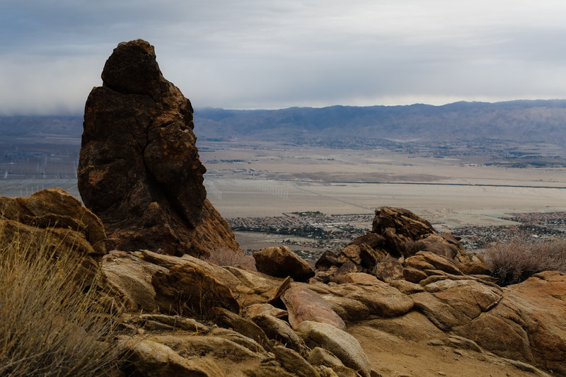 Prominent geology is scattered over the Cactus to Clouds trail.