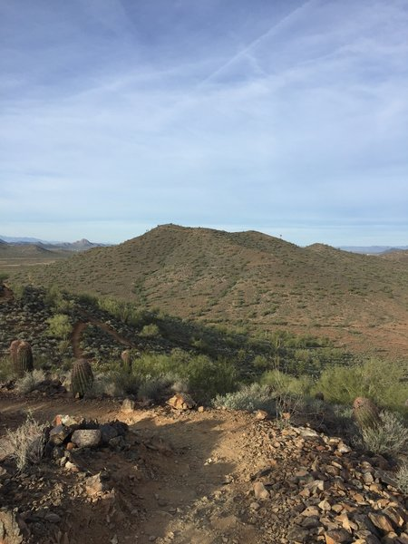 Looking towards Ridgeback Overlook from Apache Vista.