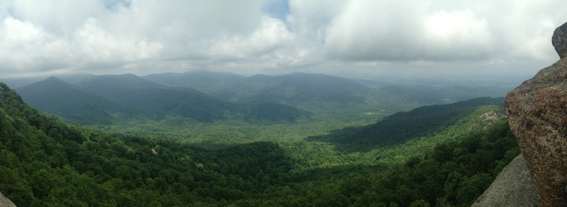 Panoramic view from the top of Old Rag.