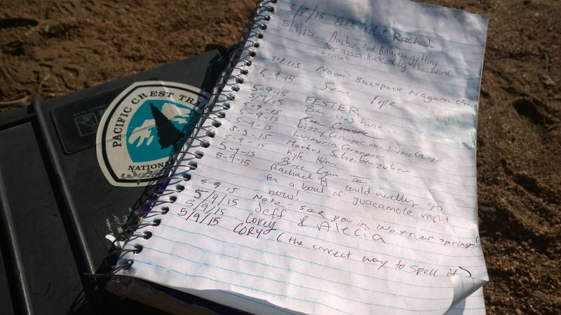 3rd Gate Trail Log - giving it 5 stars because there was a water cache here!!!