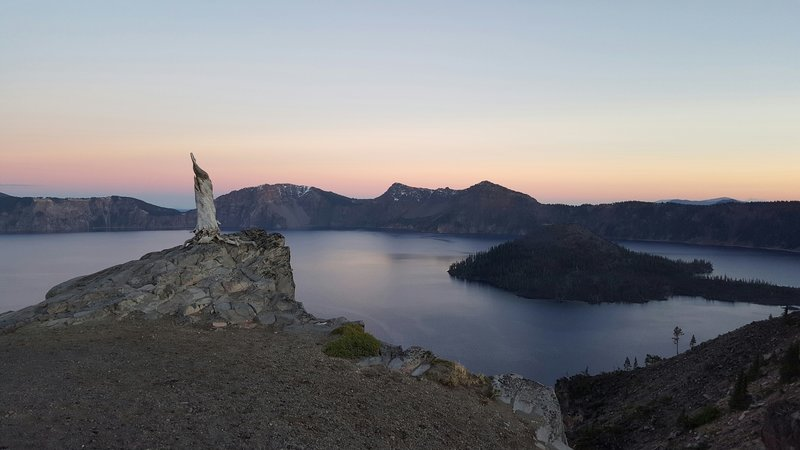 Sunset on Crater Lake.
