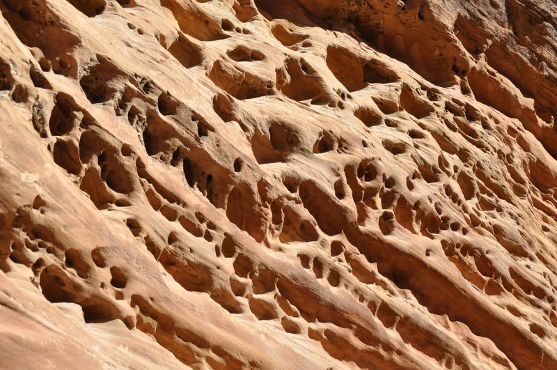 Cool erosion of the walls.