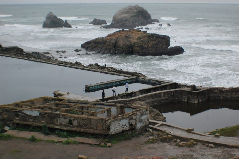 Checking out the Sutro Baths.
