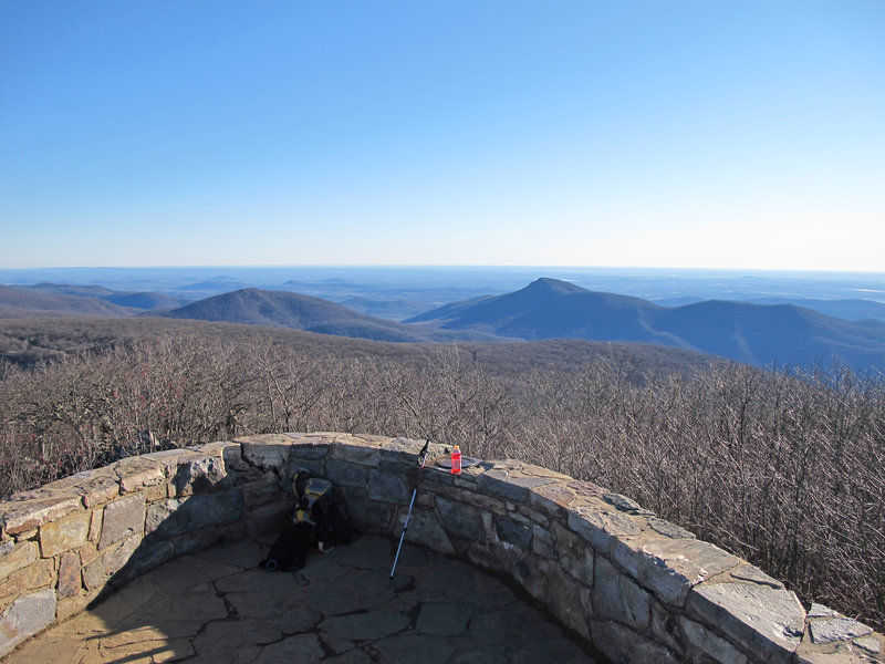 Views from the summit of Mt. Hawksbill.