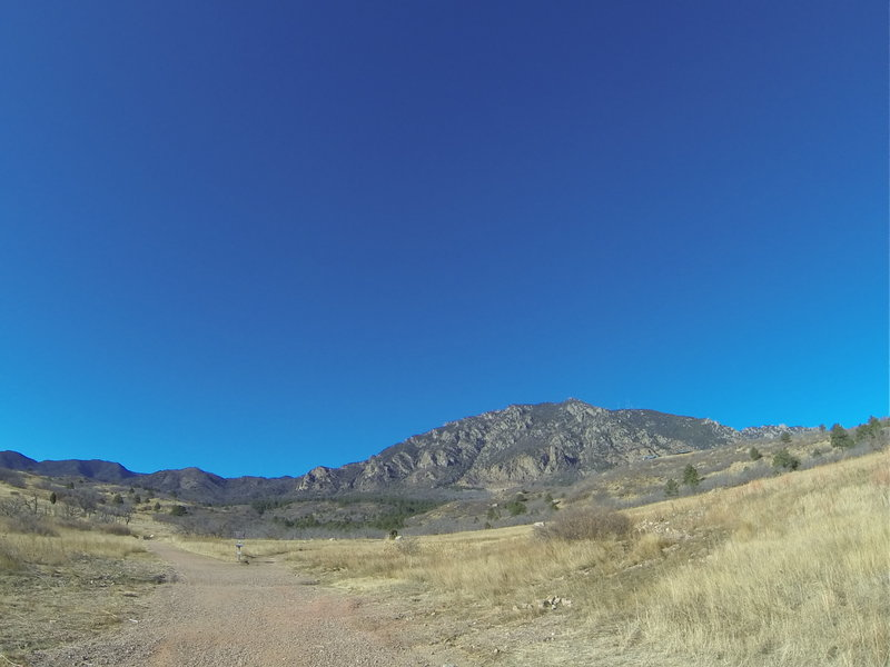 NORAD Trail Race start/finish line has an unbeatable view!