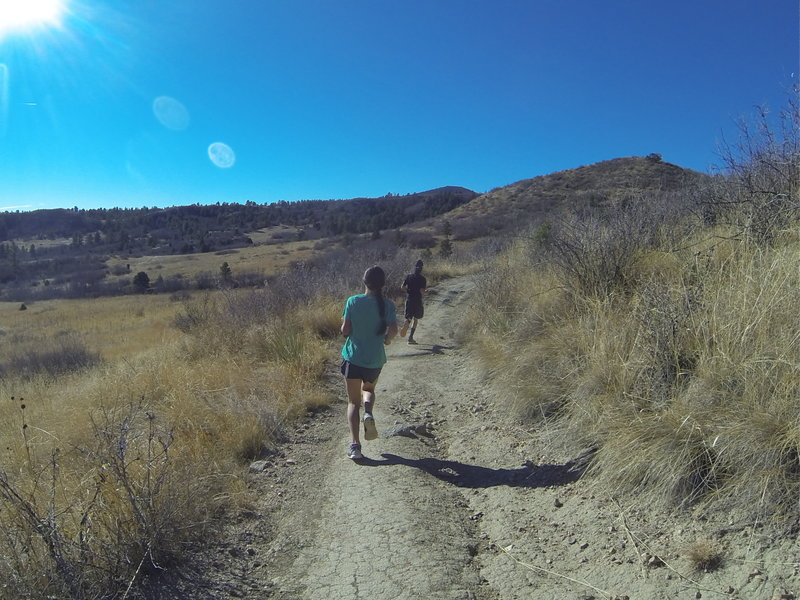 Racers make their way down the Sundance Trail during the NORAD Trail Race.