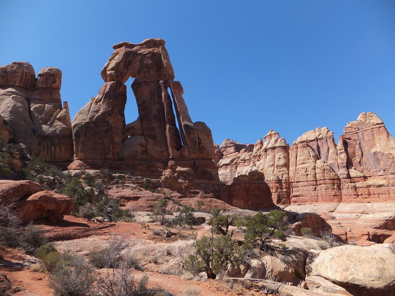 Druid Arch, as seen from the trail of the same name.